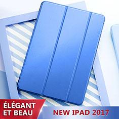 Cover Portafoglio In Pelle con Supporto L01 per Apple New iPad 9.7 (2017) Blu