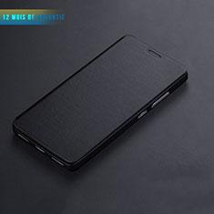Cover Portafoglio In Pelle con Supporto L01 per Huawei Honor 7 Nero
