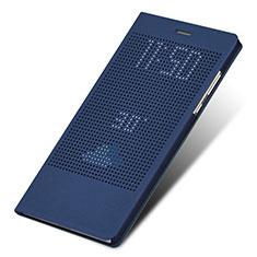 Cover Portafoglio In Pelle con Supporto L01 per Huawei Honor V8 Max Blu