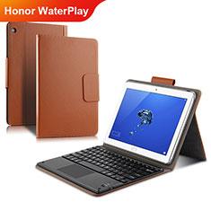 Cover Portafoglio In Pelle con Supporto L01 per Huawei Honor WaterPlay 10.1 HDN-W09 Oro