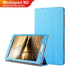 Cover Portafoglio In Pelle con Supporto L01 per Huawei Mediapad M2 8 M2-801w M2-803L M2-802L Blu