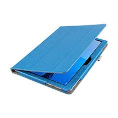 Cover Portafoglio In Pelle con Supporto L01 per Huawei MediaPad M3 Lite 10.1 BAH-W09 Blu