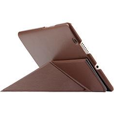 Cover Portafoglio In Pelle con Supporto L01 per Huawei MediaPad M3 Marrone
