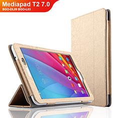 Cover Portafoglio In Pelle con Supporto L01 per Huawei Mediapad T2 7.0 BGO-DL09 BGO-L03 Oro