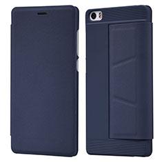 Cover Portafoglio In Pelle con Supporto L01 per Xiaomi Mi Note Blu