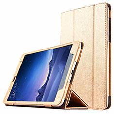 Cover Portafoglio In Pelle con Supporto L01 per Xiaomi Mi Pad 3 Oro
