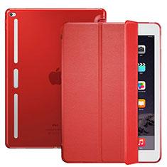 Cover Portafoglio In Pelle con Supporto L02 per Apple iPad Pro 12.9 Rosso