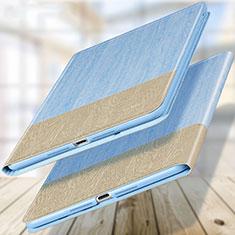 Cover Portafoglio In Pelle con Supporto L02 per Apple New iPad 9.7 (2017) Cielo Blu