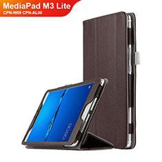 Cover Portafoglio In Pelle con Supporto L02 per Huawei MediaPad M3 Lite 8.0 CPN-W09 CPN-AL00 Marrone