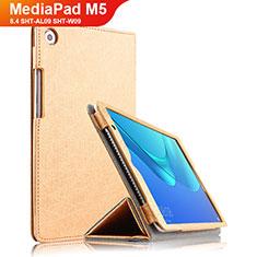 Cover Portafoglio In Pelle con Supporto L02 per Huawei MediaPad M5 8.4 SHT-AL09 SHT-W09 Oro
