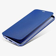 Cover Portafoglio In Pelle con Supporto L02 per Samsung Galaxy S9 Plus Blu