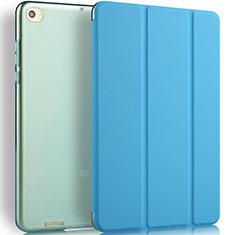 Cover Portafoglio In Pelle con Supporto L02 per Xiaomi Mi Pad 3 Blu