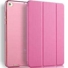 Cover Portafoglio In Pelle con Supporto L02 per Xiaomi Mi Pad 3 Rosa