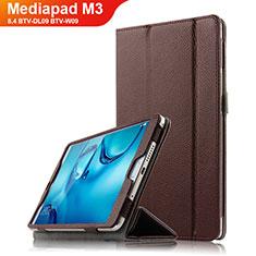 Cover Portafoglio In Pelle con Supporto L03 per Huawei Mediapad M3 8.4 BTV-DL09 BTV-W09 Marrone