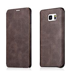 Cover Portafoglio In Pelle con Supporto L03 per Samsung Galaxy Note 5 N9200 N920 N920F Marrone