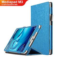 Cover Portafoglio In Pelle con Supporto L04 per Huawei Mediapad M3 8.4 BTV-DL09 BTV-W09 Blu