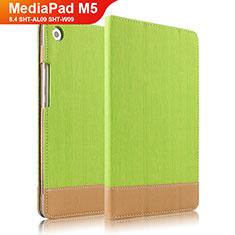 Cover Portafoglio In Pelle con Supporto L04 per Huawei MediaPad M5 8.4 SHT-AL09 SHT-W09 Verde
