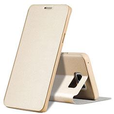 Cover Portafoglio In Pelle con Supporto L04 per Samsung Galaxy Note 5 N9200 N920 N920F Oro