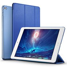Cover Portafoglio In Pelle con Supporto L05 per Apple iPad Mini 4 Blu