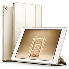 Cover Portafoglio In Pelle con Supporto L05 per Apple iPad Mini 4 Oro