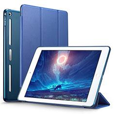Cover Portafoglio In Pelle con Supporto L05 per Apple iPad Mini Blu