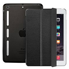 Cover Portafoglio In Pelle con Supporto L05 per Apple iPad Mini Nero