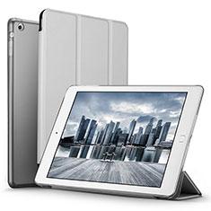 Cover Portafoglio In Pelle con Supporto L06 per Apple iPad Mini 3 Argento