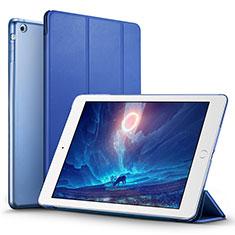 Cover Portafoglio In Pelle con Supporto L06 per Apple iPad Mini 3 Blu