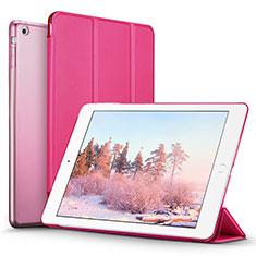 Cover Portafoglio In Pelle con Supporto L06 per Apple iPad Mini 3 Rosa Caldo