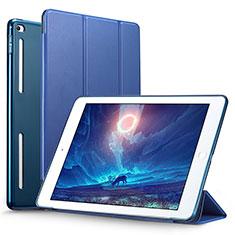 Cover Portafoglio In Pelle con Supporto L06 per Apple iPad Mini 4 Blu