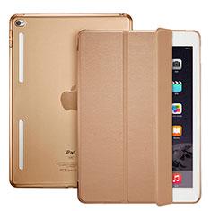 Cover Portafoglio In Pelle con Supporto L06 per Apple iPad Mini 4 Marrone