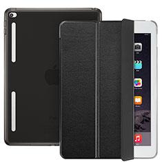 Cover Portafoglio In Pelle con Supporto L06 per Apple iPad Mini 4 Nero