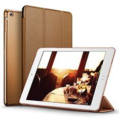 Cover Portafoglio In Pelle con Supporto L06 per Apple iPad Mini Marrone