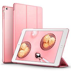 Cover Portafoglio In Pelle con Supporto L06 per Apple iPad Mini Rosa