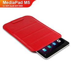 Cover Portafoglio In Pelle con Supporto L07 per Huawei MediaPad M5 8.4 SHT-AL09 SHT-W09 Rosso