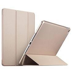 Cover Portafoglio In Pelle con Supporto L08 per Apple iPad Mini 4 Oro