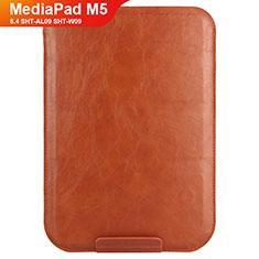 Cover Portafoglio In Pelle con Supporto L08 per Huawei MediaPad M5 8.4 SHT-AL09 SHT-W09 Marrone