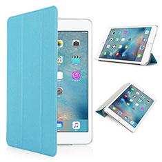 Cover Portafoglio In Pelle con Supporto Opaca per Apple iPad Pro 9.7 Cielo Blu