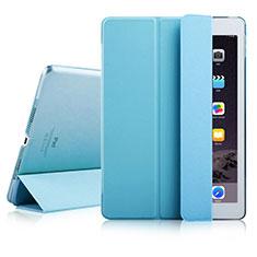 Cover Portafoglio In Pelle con Supporto per Apple iPad Air 2 Cielo Blu
