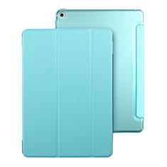 Cover Portafoglio In Pelle con Supporto per Apple iPad Mini 4 Cielo Blu