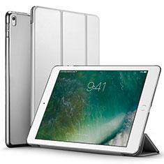 Cover Portafoglio In Pelle con Supporto per Apple iPad Pro 12.9 (2017) Argento