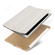 Cover Portafoglio In Pelle con Supporto per Apple iPad Pro 12.9 Bianco