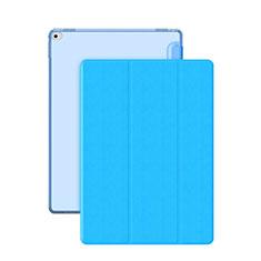 Cover Portafoglio In Pelle con Supporto per Apple iPad Pro 12.9 Cielo Blu