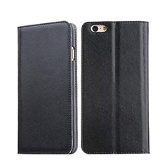 Cover Portafoglio In Pelle con Supporto per Apple iPhone 6 Nero