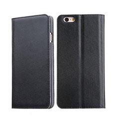 Cover Portafoglio In Pelle con Supporto per Apple iPhone 6 Plus Nero