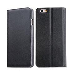 Cover Portafoglio In Pelle con Supporto per Apple iPhone 6S Nero