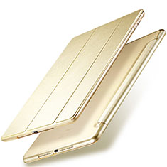 Cover Portafoglio In Pelle con Supporto per Apple New iPad 9.7 (2017) Oro