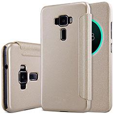 Cover Portafoglio In Pelle con Supporto per Asus Zenfone 3 ZE552KL Oro
