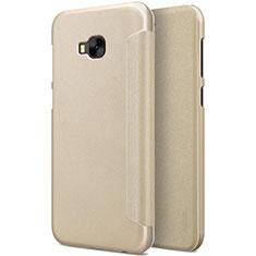 Cover Portafoglio In Pelle con Supporto per Asus Zenfone 4 Selfie Pro Oro
