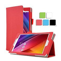 Cover Portafoglio In Pelle con Supporto per Asus ZenPad C 7.0 Z170CG Rosso